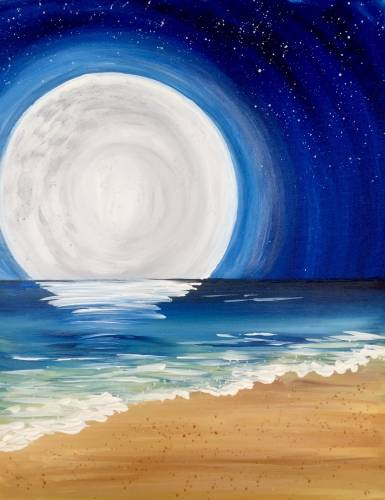 A Crystal Blue Moonrise paint nite project by Yaymaker