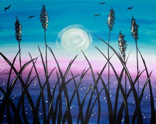 A Field at Dusk paint nite project by Yaymaker