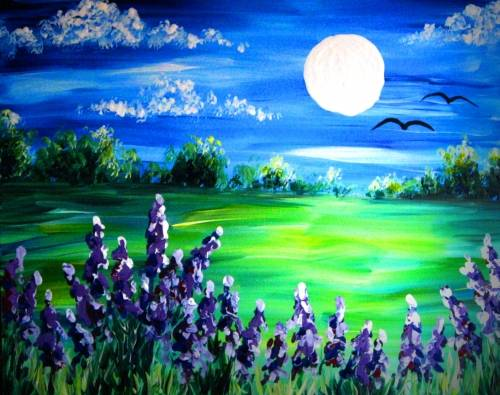 A Lavender Field paint nite project by Yaymaker