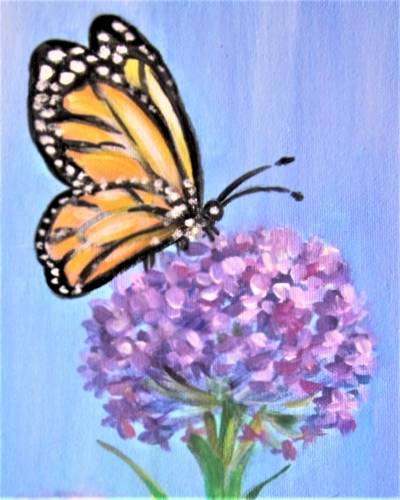 A A Butterfly and a Bloom paint nite project by Yaymaker
