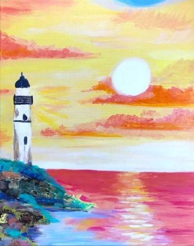 A Lighthouse Bay II paint nite project by Yaymaker