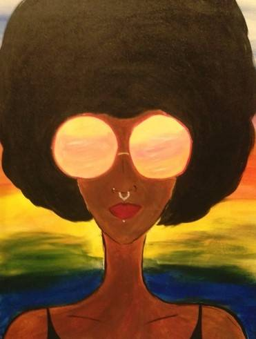 A AfroPunk paint nite project by Yaymaker