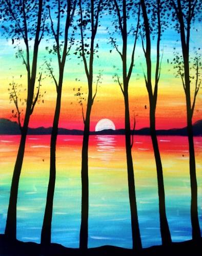 A Bright Summer Night paint nite project by Yaymaker