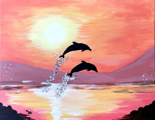 A Dolphin Bay paint nite project by Yaymaker