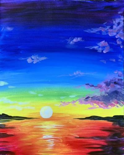 A Sunset Rainbow paint nite project by Yaymaker