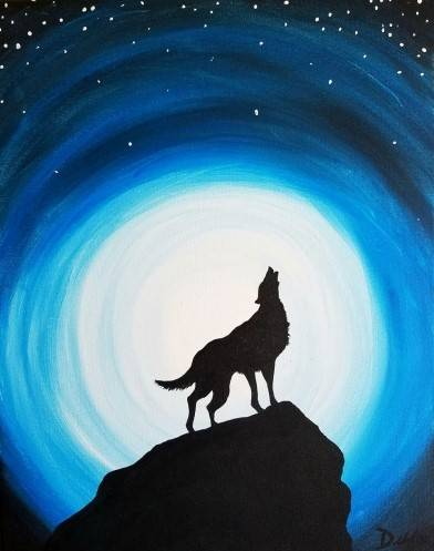 A Moonlight Howl Blue paint nite project by Yaymaker