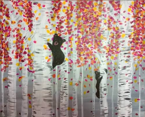 A Bears in the Forest paint nite project by Yaymaker