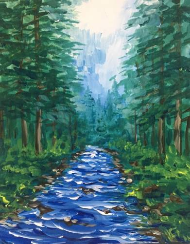 A Summer Stream II paint nite project by Yaymaker