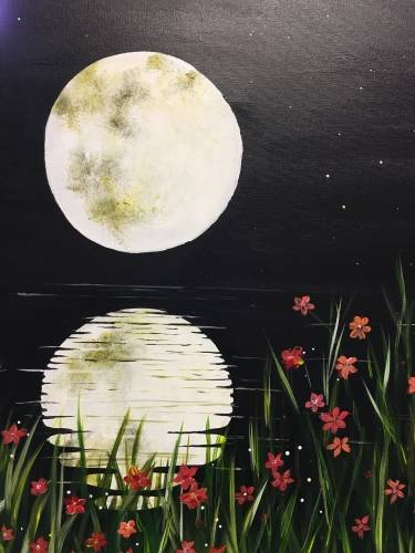 A Midnight Reflections paint nite project by Yaymaker