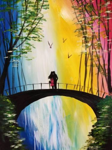 A Our Love of Falling Water paint nite project by Yaymaker