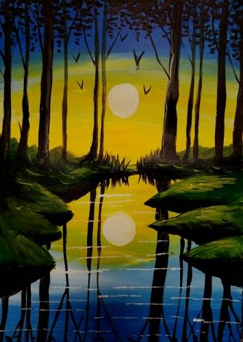 A The Glory of Hidden Forest paint nite project by Yaymaker
