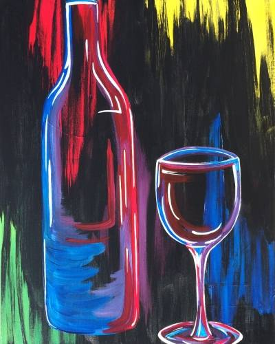 A Technicolor Wine paint nite project by Yaymaker