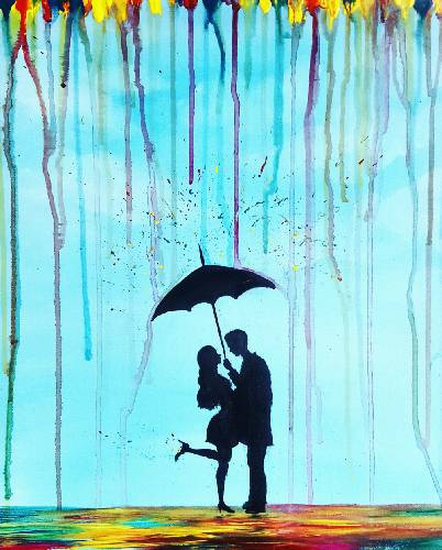 A Love is Under the Rain paint nite project by Yaymaker