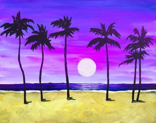 A Tropical Palm Paradise paint nite project by Yaymaker