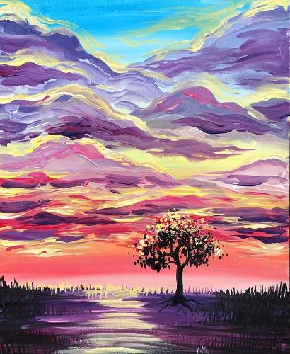 A Place Of Reflection paint nite project by Yaymaker