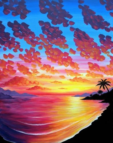 A Caribbean Breeze paint nite project by Yaymaker