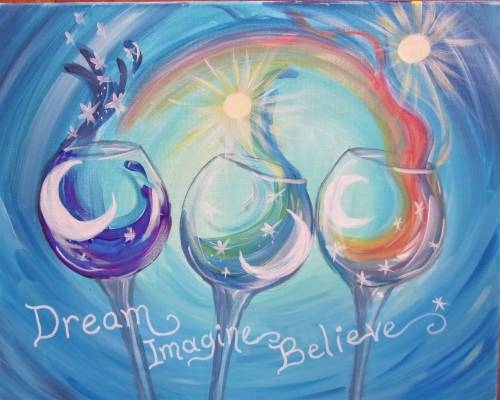 A A Toast and a Dream paint nite project by Yaymaker