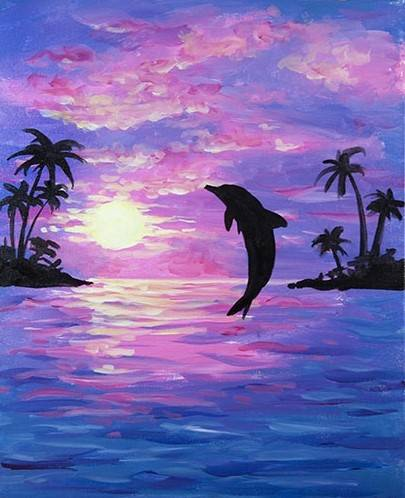 A Dolphin Joy paint nite project by Yaymaker