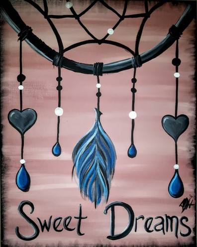 A Catching Sweet Dreams paint nite project by Yaymaker