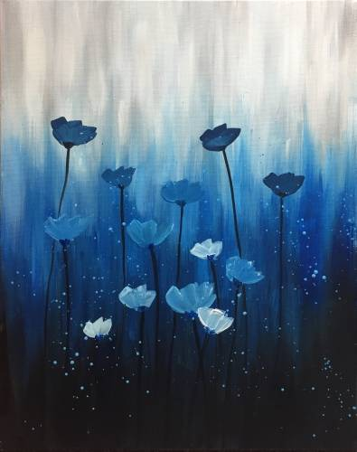 A Dreaming of Poppies II paint nite project by Yaymaker