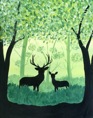 A Mystic Forest paint nite project by Yaymaker