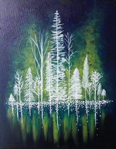 A Forest of Lights II paint nite project by Yaymaker