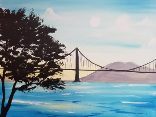 A Bridge in the Bay paint nite project by Yaymaker