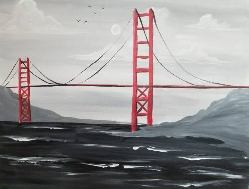 A Golden Gate Breeze paint nite project by Yaymaker