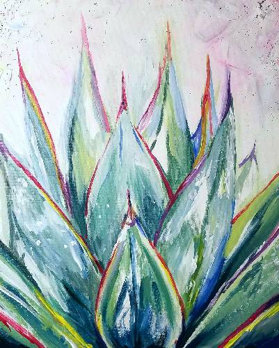 A Sublime Succulent paint nite project by Yaymaker