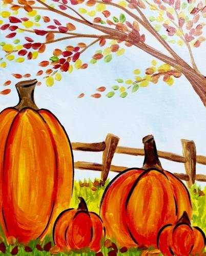 A Fall Family Foto paint nite project by Yaymaker
