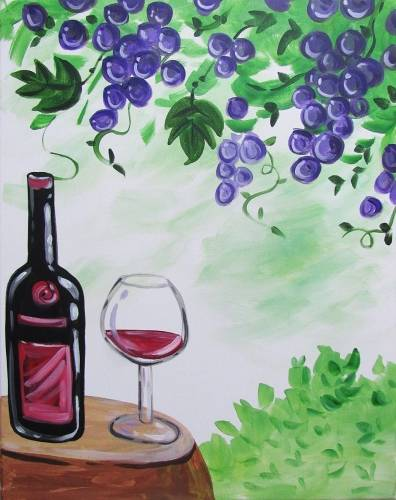 A Straight from the Vineyard paint nite project by Yaymaker