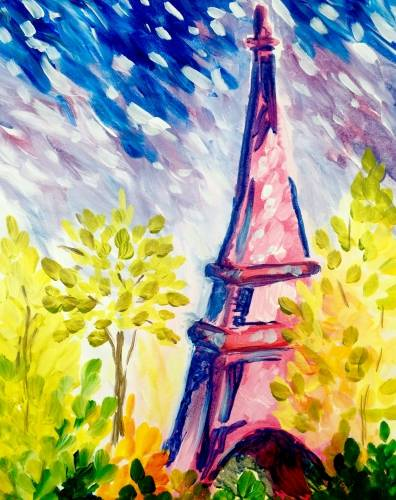 A Paris Impressions paint nite project by Yaymaker