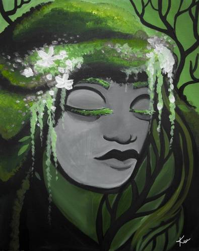 A Stone Earth Goddess paint nite project by Yaymaker