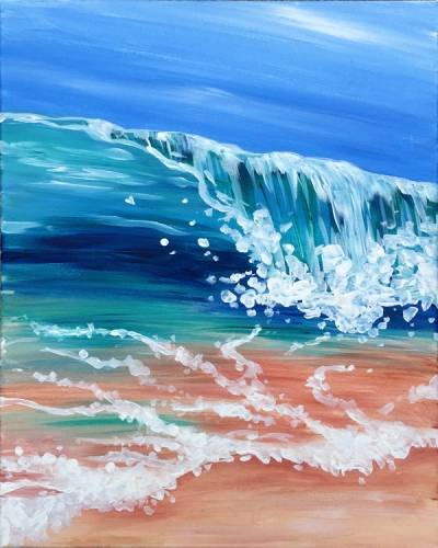 A Wave Break paint nite project by Yaymaker