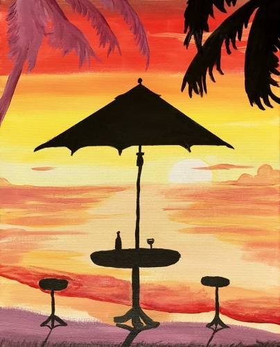 A Sunset Drinks paint nite project by Yaymaker