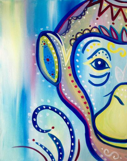 A monkeying around paint nite project by Yaymaker