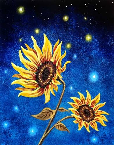A Sunflower Magic paint nite project by Yaymaker