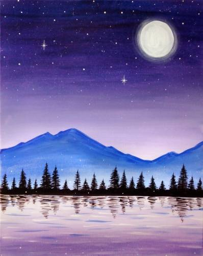 A Starry Skies  Fireflies paint nite project by Yaymaker