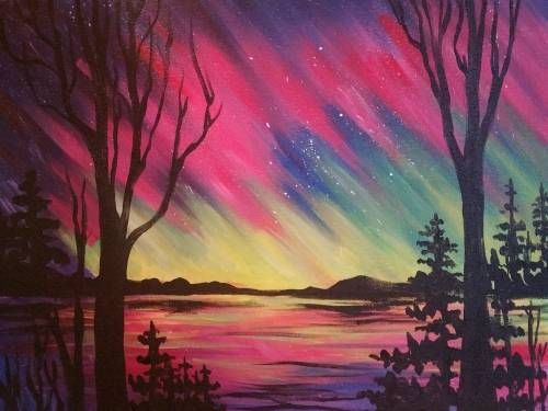 A Northern Summer Skies paint nite project by Yaymaker
