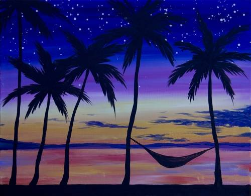 A West Coast Vibes paint nite project by Yaymaker