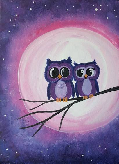A Owl Of You Always paint nite project by Yaymaker