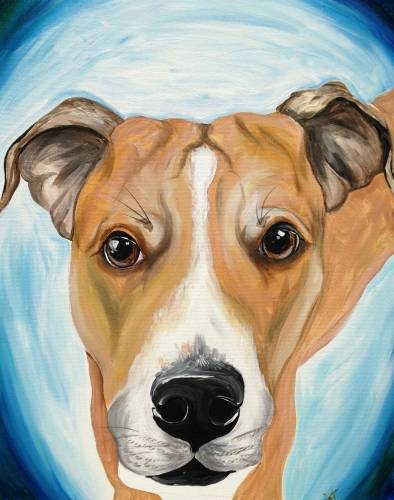 A Customized Paint Your Pet Event Painting paint nite project by Yaymaker