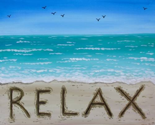 A Relax on the Beach paint nite project by Yaymaker