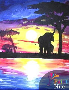 A Safari Elephant paint nite project by Yaymaker