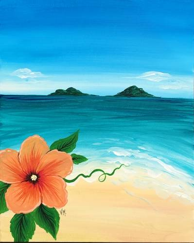 A Island Dreams paint nite project by Yaymaker
