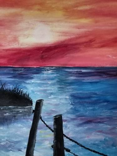 A Dock Of The Bay paint nite project by Yaymaker