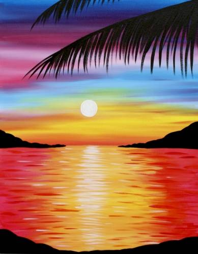 A Pretty Paradise paint nite project by Yaymaker
