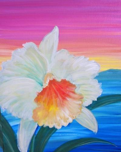 A Aloha Orchid paint nite project by Yaymaker