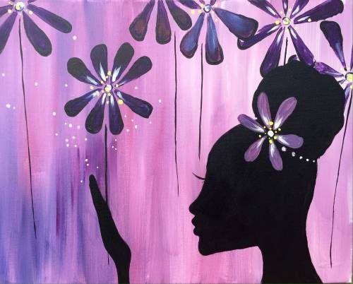 A Queen of the Daisies paint nite project by Yaymaker