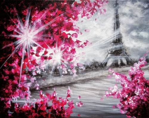 A Blossoms In Paris III paint nite project by Yaymaker